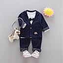 ieftine Set Îmbrăcăminte Băieți Bebeluși-Bebelus Băieți Houndstooth Manșon Lung Set Îmbrăcăminte