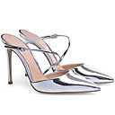 povoljno Ženske sandale-Žene Cipele PU Ljeto Udobne cipele Sandale Stiletto potpetica Pink / Plava