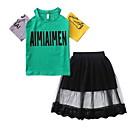 povoljno Kompletići za djevojčice-Djeca Djevojčice Osnovni Jednobojni Kratkih rukava Komplet odjeće