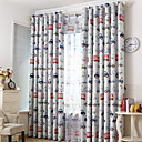 cheap Robots-Kids Curtains Kids Room Geometric / Cartoon Cotton / Polyester Jacquard