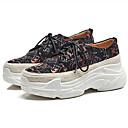 ieftine Sandale de Damă-Pentru femei Pantofi Microfibre Primăvară / Vară Confortabili Adidași Creepers Vârf Închis Negru / Rosu