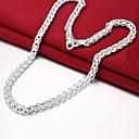 povoljno Modne ogrlice-Muškarci Lančići Jednostavan Osnovni Kamen Glina Pink 50 cm Ogrlice Jewelry 1pc Za Dnevno Rad