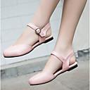povoljno Ženske tenisice-Žene Cipele PU Ljeto Udobne cipele Sandale Niska potpetica Okrugli Toe Crn / Bež / Pink