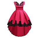 preiswerte Kleider für Mädchen-Kinder Mädchen Grundlegend / Süß Party / Ausgehen Blumen Ärmellos Knielang / Asymmetrisch Kleid / Baumwolle