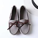 رخيصةأون أحذية مسطحة نسائية-للمرأة أحذية فرو ظبي لربيع وصيف مريح أحذية القارب كعب مسطخ أمام الحذاء على شكل دائري عقدة أصفر / أحمر / أخضر