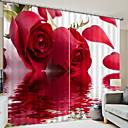 "cheap 3D Curtains-Curtain Pencil Pleated Panel 2*(52W×95""L) As Picture / Bedroom"