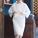 ieftine Seturi Îmbrăcăminte Fete-Copii Fete Activ / Dulce Mată Manșon Lung Rochie Alb 140