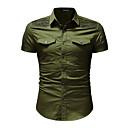 baratos Zentai-Homens Camisa Social Básico Sólido