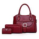 ieftine Seturi Genți-Pentru femei Genți PU Seturi de sac Set de pungi 3 buc Solid Roșu-aprins / Roz Îmbujorat / Maro