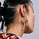 cheap Earrings-Women's Drop Earrings - Leaf Simple, Korean, Fashion Gold / Silver For Party / Daily