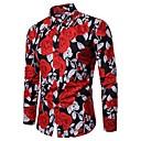 billige Herreringer-Bomull Skjorte Herre - Blomstret / Langermet