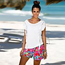 preiswerte Hundekleidung-Damen Solide - Street Schick T-shirt Ausgehöhlt