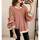cheap Women's Boots-Women's Going out Long Sleeve Pullover - Striped