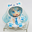 billige Anime actionfigurer-Anime Action Figurer Inspirert av Cosplay Snow Miku PVC 7 cm CM Modell Leker Dukke
