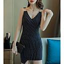 זול שעונים חכמים-מיני פסים - שמלה צינור בגדי ריקוד נשים