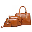 cheap Bag Sets-Women's Bags PU(Polyurethane) Bag Set 4 Pieces Purse Set Solid Red / Blushing Pink / Brown