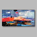 tanie Obrazy olejne-Hang-Malowane obraz olejny Ręcznie malowane - Abstrakcja Nowoczesne / Nowoczesny Naciągnięte płótka / Rozciągnięte płótno