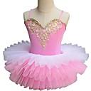 cheap Kids' Dancewear-Ballet Dresses Girls' Performance Spandex Ruching Sleeveless Tutus