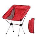 abordables Muebles de Cámping-Sille plegable para camping Al aire libre Ligero, Doblez Aleación de aluminio para Pesca / Playa / Camping - 1 Persona Azul Oscuro / Fucsia / Café