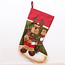 tanie Naklejki ścienne-Pończochy Święto Materiał bawełniany Kwadrat Zabawne Świąteczna dekoracja