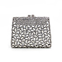 cheap Clutches & Evening Bags-Women's Bags Alloy Evening Bag Crystals / Hollow-out Gold / Silver