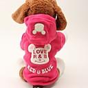 tanie Święta Bożego Narodzenia-Psy / Koty Płaszcze / Kombinezon Ubrania dla psów Napis / Znak Różowy Materiał Kostium Dla zwierząt domowych Kobieta Na co dzień / Sportowy