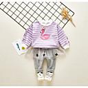 ieftine Top Bebeluși-Bebelus Fete Dungi / Imprimeu Manșon Lung Set Îmbrăcăminte