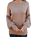 cheap Women's Athletic Shoes-Women's Going out Basic Solid Colored Long Sleeve Regular Pullover, Round Neck Black / Pink / Gray M / L / XL
