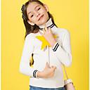 ieftine Seturi Îmbrăcăminte Fete-Copii Fete De Bază Bloc Culoare Manșon Lung Sfeter & Cardigan