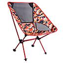 זול קישוטים לעוגה-כיסא קמפינג מתקפל חיצוני משקל קל סגסוגת אלומיניום, 600D פוליאסטר ל צעידה / חוף / קמפינג - 1 אדם תלתן / כחול כהה / פוקסיה
