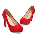 cheap Women's Heels-Women's Pumps Microfiber Summer Heels Chunky Heel Red / Party & Evening