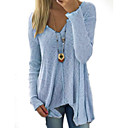 cheap Drawing Toys-Women's Basic Long Sleeve Slim Long Pullover - Solid Colored Deep V / Fall