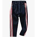 ieftine Seturi Îmbrăcăminte Băieți-Copii Băieți De Bază Mată / Dungi Bumbac / Spandex Pantaloni Albastru piscină 110