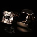 preiswerte LED Glühbirnen-Geometrische Form Golden Manschettenknöpfe Krystall / Kupfer Grundlegend / Elegant Herrn Modeschmuck Für Party / Geschenk
