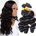 cheap Human Hair Weaves-3 Bundles Peruvian Hair Loose Wave Unprocessed Human Hair 100% Remy Hair Weave Bundles Natural Color Hair Weaves / Hair Bulk Extension Bundle Hair 8-28 inch Black Natural Color Human Hair Weaves