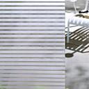 povoljno Naljepnice za prozore-Prozor Film i Naljepnice Ukras Mat / Suvremena Prugasti uzorak PVC Naljepnica za prozor / Mat