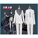 cheap Anime Hoodies & Sweatshirts-Inspired by Dangan Ronpa Ouma Kokichi Anime Cosplay Costumes Cosplay Suits Simple / Lattice Coat / Pants / Scarf For Men's