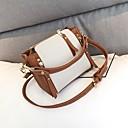 cheap Top Handles & Tote Bags-Women's Bags PU(Polyurethane) Tote Zipper Black / Light Purple / Brown