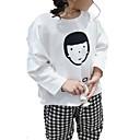 tanie Sukienki dla dziewczynek-Brzdąc Dla dziewczynek Podstawowy Solidne kolory Długi rękaw Poliester T-shirt Biały 100