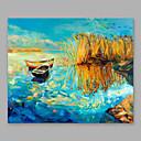 billige Oljemalerier-Hang malte oljemaleri Håndmalte - Landskap Moderne Inkluder indre ramme / Stretched Canvas