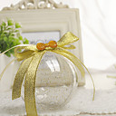 baratos Velas para Lembrancinhas-Circular Plástico Suportes para Lembrancinhas com Combinação Caixas de Ofertas - 12pcs