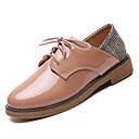 זול נעלי אוקספורד לנשים-בגדי ריקוד נשים נעלי נוחות PU סתיו בריטי נעלי אוקספורד עקב נמוך בוהן עגולה שחור / חאקי / קולור בלוק / יומי