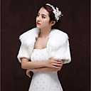 זול עליוניות לחתונה-שרוולים קצרים דמוי פרווה חתונה / יום הולדת כיסויי גוף לנשים עם מפרק מפוצל בולרו