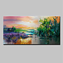 cheap Landscape Paintings-Oil Painting Hand Painted - Landscape / Floral / Botanical Modern Canvas