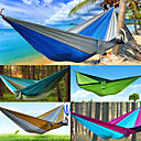 abordables Muebles de Cámping-AOTU Hamaca para camping Al aire libre Portátil Nailon para Interior / Al Aire Libre - 2 Personas Amarillo / gris / Azul + Gris / Azul