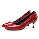 cheap Women's Heels-Women's Shoes Patent Leather Fall Comfort / Basic Pump Heels Stiletto Heel Black / Red