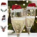 preiswerte Weihnachtsdeko-Weihnachten Glasschild Flagge Weihnachten Hut Zahnstocher Flagge Essen Dekoration Weihnachtsschmuck