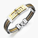 cheap Men's Earrings-Men's Stylish Bracelet - Titanium Steel Creative Fashion Bracelet Gold / Silver For Party Daily