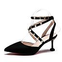 ieftine Sandale de Damă-Pentru femei PU Vară Pantof cu Berete Sandale Toc Stilat Bej / Gri / Roz