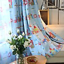 cheap Synthetic Capless Wigs-Blackout Curtains Drapes Kids Room Cartoon Polyester Blend Printed